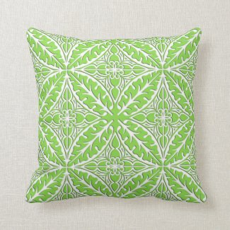Moroccan tiles - lime green and white pillows