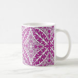 Moroccan tiles - orchid and white mugs