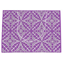 Moroccan tiles - violet and white large gift bag
