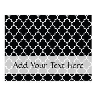 Moroccan Trellis, Latticework - Black White Post Card