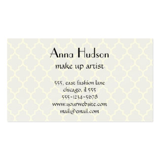 Moroccan Trellis, Latticework - Gray Yellow Double-Sided Standard Business Cards (Pack Of 100)