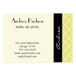 Moroccan Trellis, Latticework - Yellow White Large Business Cards (Pack Of 100)