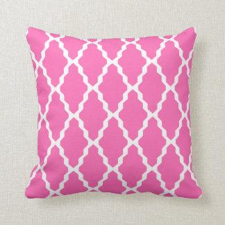 Moroccan Trellis Pillow in Hot Pink