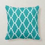 Moroccan Trellis Pillow in Teal