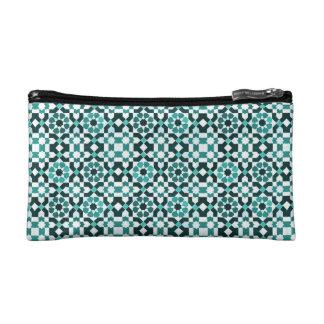 Moroccan Turquoise Pattern Makeup Bag