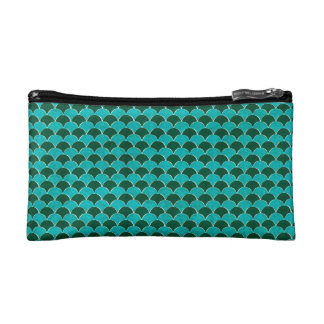 Moroccan Turquoise Scale Pattern Makeup Bag