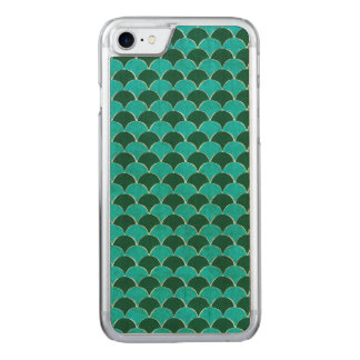Moroccan Turquoise Scale Pattern Carved iPhone 8/7 Case