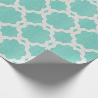 Moroccan Turquoise Wrapping Paper