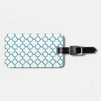 Moroccan weave pattern bag tag