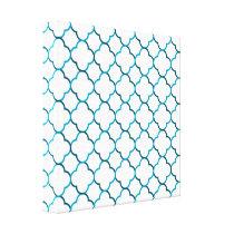 Moroccan weave pattern canvas print
