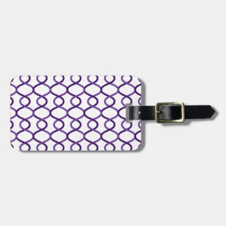 Moroccan weave pattern luggage tag