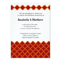 Moroccan wedding 5x7 paper invitation card (<em>$2.11</em>)