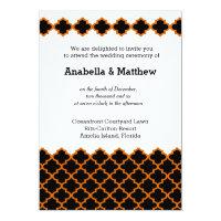 Moroccan wedding (black) 5x7 paper invitation card (<em>$2.11</em>)