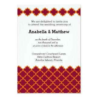 Moroccan wedding card