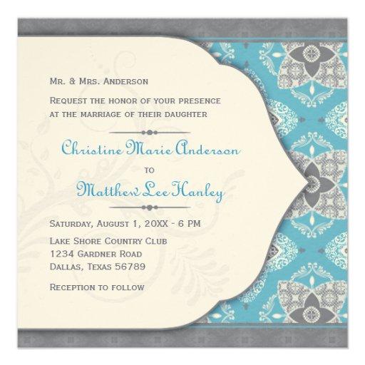 Moroccan Wedding Invitation