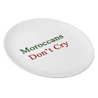 Moroccans Don't Cry Plates