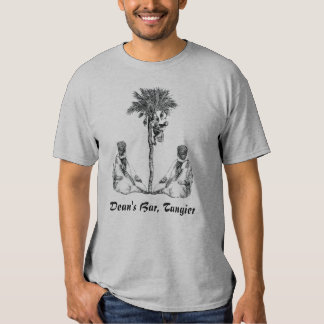 MOROCCANS WITH PALM TREE, Dean's Bar, Tangier T-shirts