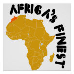 Morocco, Africa map design Posters
