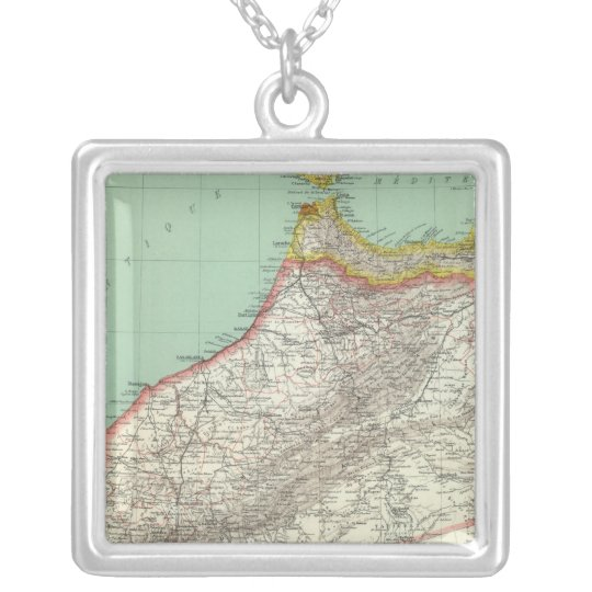 Morocco and Algeria Silver Plated Necklace