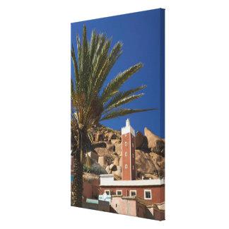 MOROCCO, Anti Atlas, TAFRAOUTE Area: ADAI, Red Canvas Print