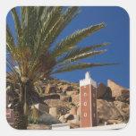 MOROCCO, Anti Atlas, TAFRAOUTE Area: ADAI, Red Square Sticker