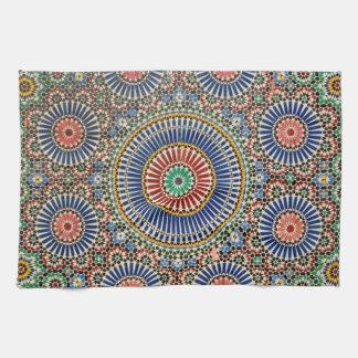 morocco arab mosaic islam religious pattern hand towel