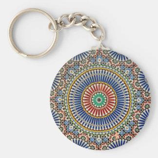 morocco arab mosaic islam religious pattern keychain