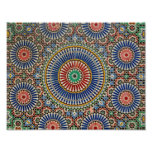morocco arab mosaic islam religious pattern poster