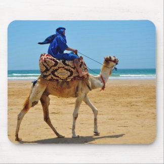 morocco arab ride camel seaside beach mouse pad