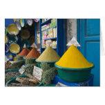 MOROCCO, Atlantic Coast, ESSAOUIRA: Spice Market Greeting Card