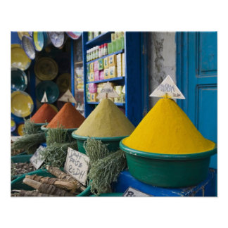 MOROCCO, Atlantic Coast, ESSAOUIRA: Spice Market Poster