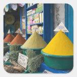 MOROCCO, Atlantic Coast, ESSAOUIRA: Spice Market Square Sticker