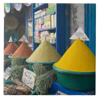 MOROCCO, Atlantic Coast, ESSAOUIRA: Spice Market Tiles