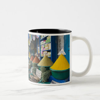 MOROCCO, Atlantic Coast, ESSAOUIRA: Spice Market Two-Tone Coffee Mug