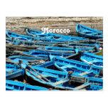 Morocco Boats Postcard