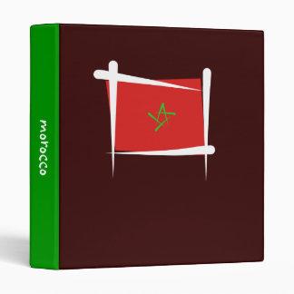 Morocco Brush Flag 3 Ring Binder