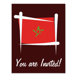 Morocco Brush Flag Card