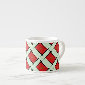 Morocco Brush Flag Espresso Cup