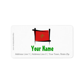 Morocco Brush Flag Label
