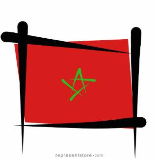 Morocco Brush Flag Statuette
