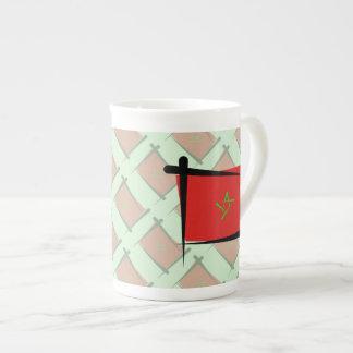 Morocco Brush Flag Tea Cup