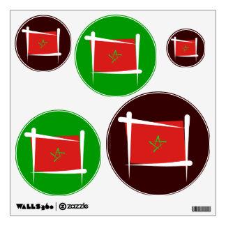Morocco Brush Flag Wall Sticker