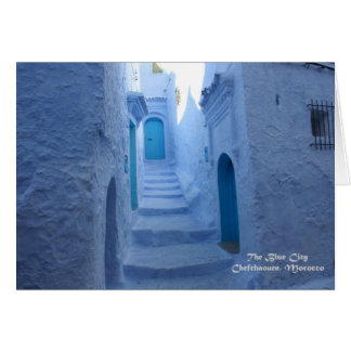 Morocco, Chefchaouen, The Blue City Card