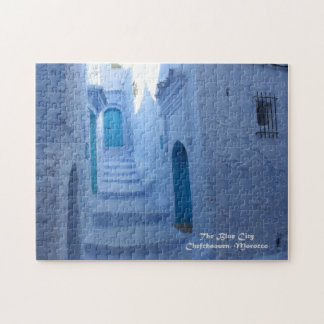 Morocco, Chefchaouen, The Blue City Jigsaw Puzzle