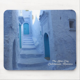 Morocco, Chefchaouen, The Blue City Mouse Pad