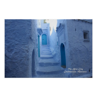 Morocco, Chefchaouen, The Blue City Posters
