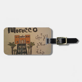 morocco christian luggage tag