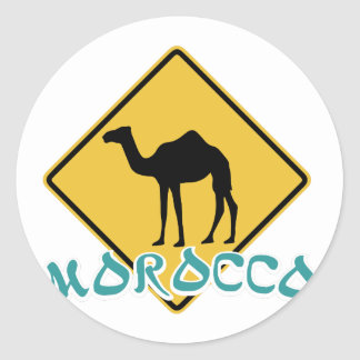 Morocco Classic Round Sticker