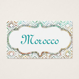 Morocco Clean Business Card