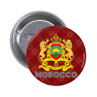 Morocco Coat of Arms Pinback Buttons
